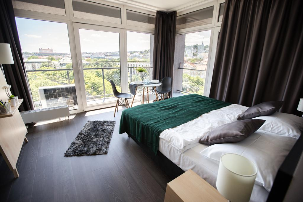One bedroom apartment Bratislava - panoramic windows
