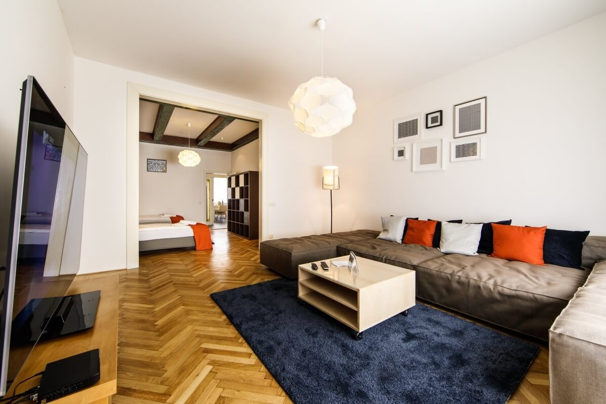 Bratislava holiday apartment - living area