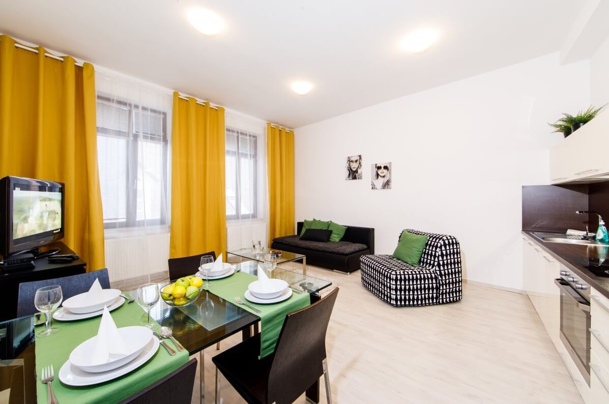 Bratislava serviced apartment - living room