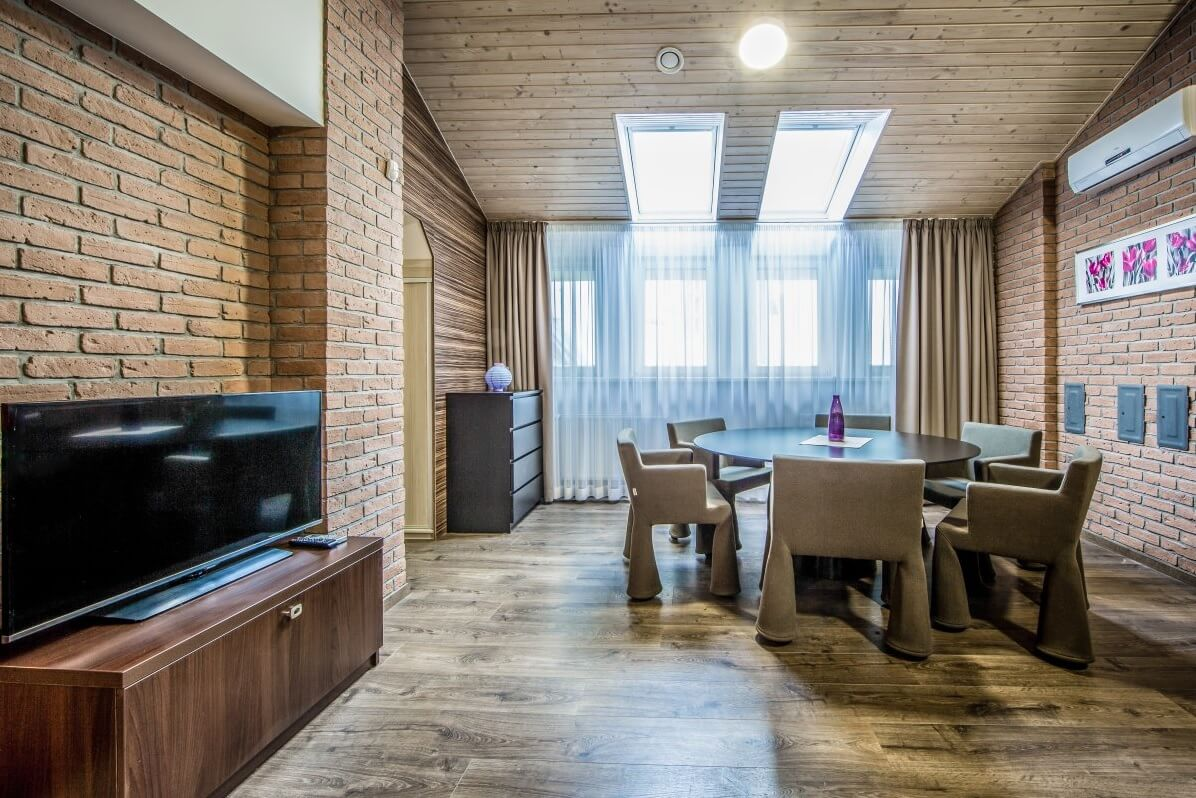 Bratislava two bedroom apartment - living & dining area