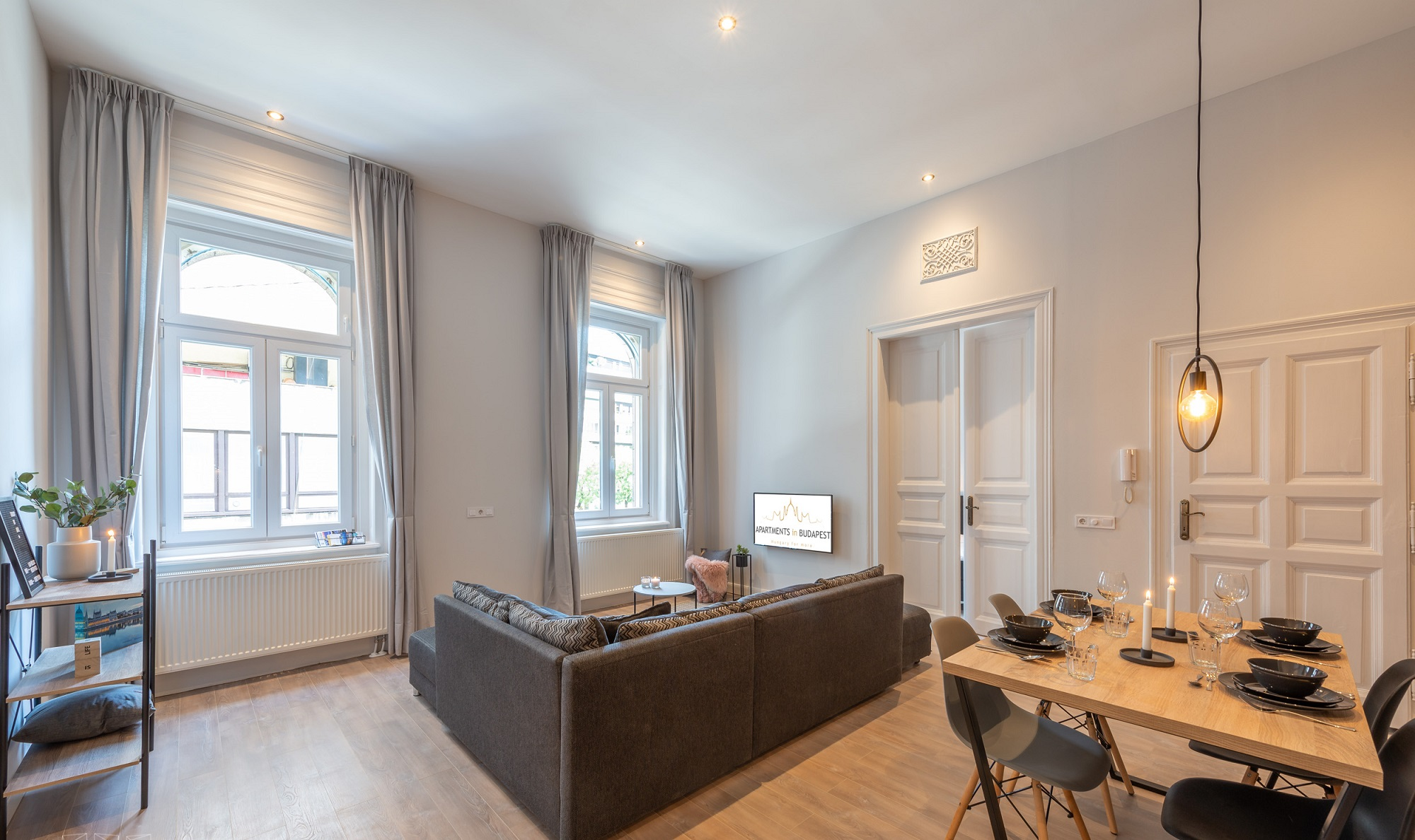 Budapest two bedroom apartment - living and dining