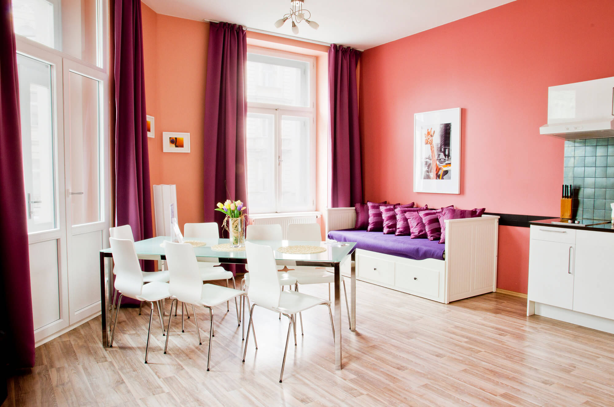 Family apartment - Prague - living & dining area