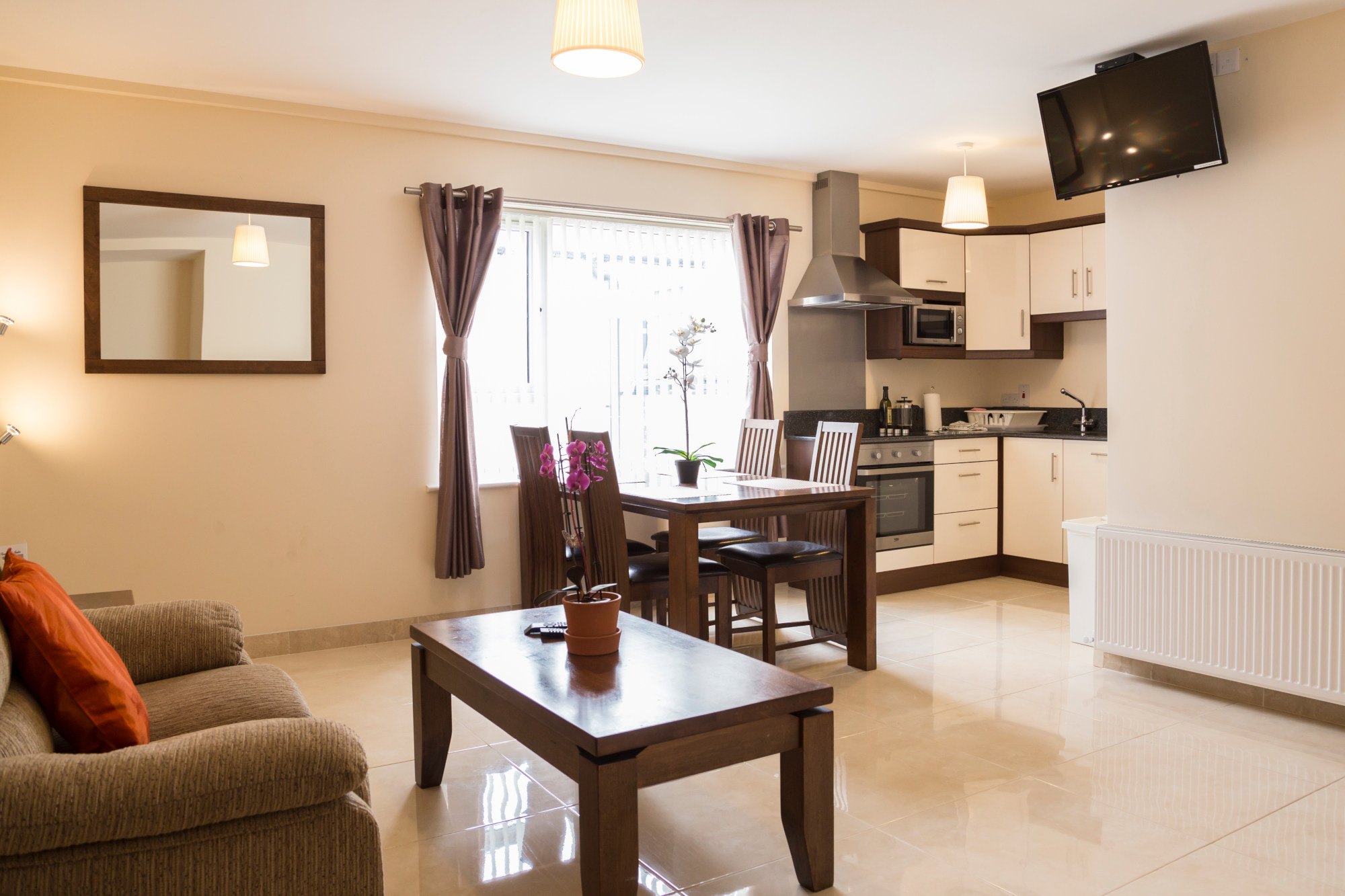 Dublin quality apartment - Five Lamps - Living - Dining - Kitchen