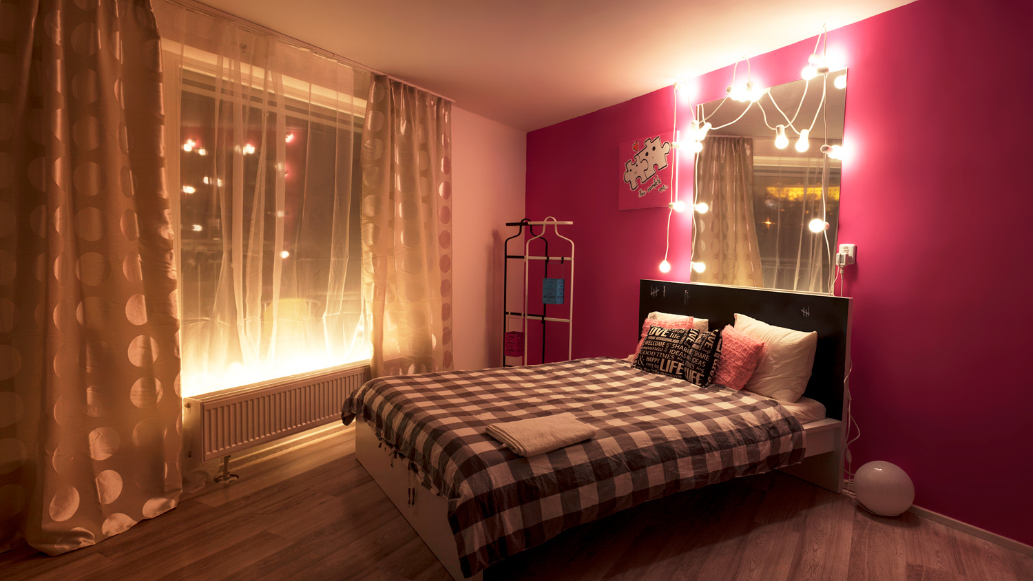 Modern studio apartment Brno - bed