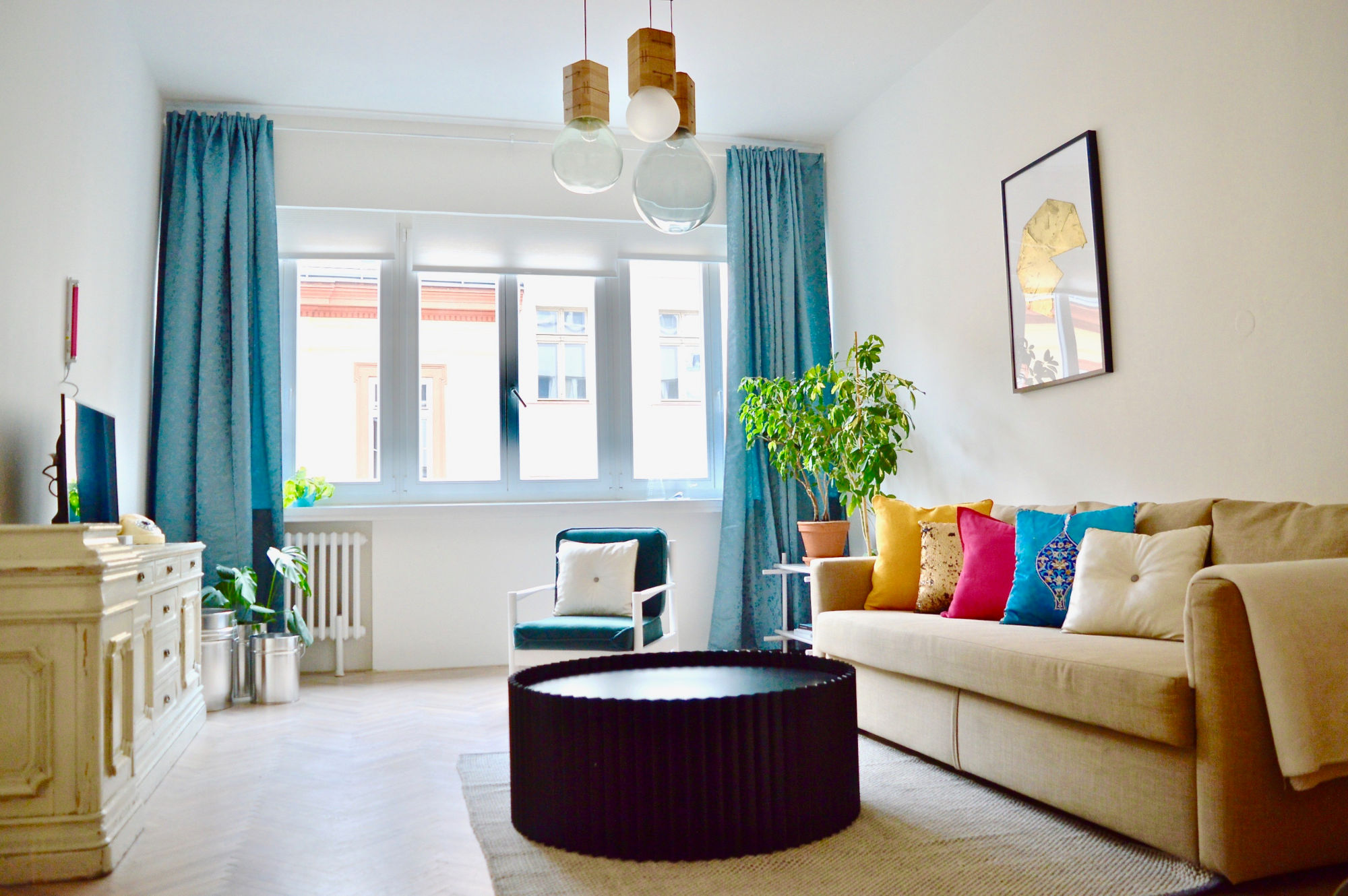 One bedroom apartment Prague - New Town - living space
