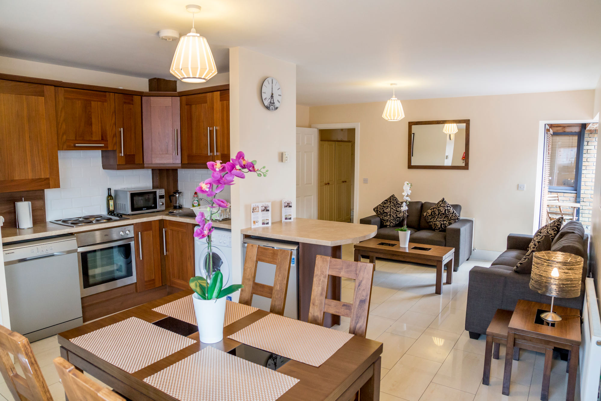 Dublin one bedroom apartment - Living Dining Kitchen
