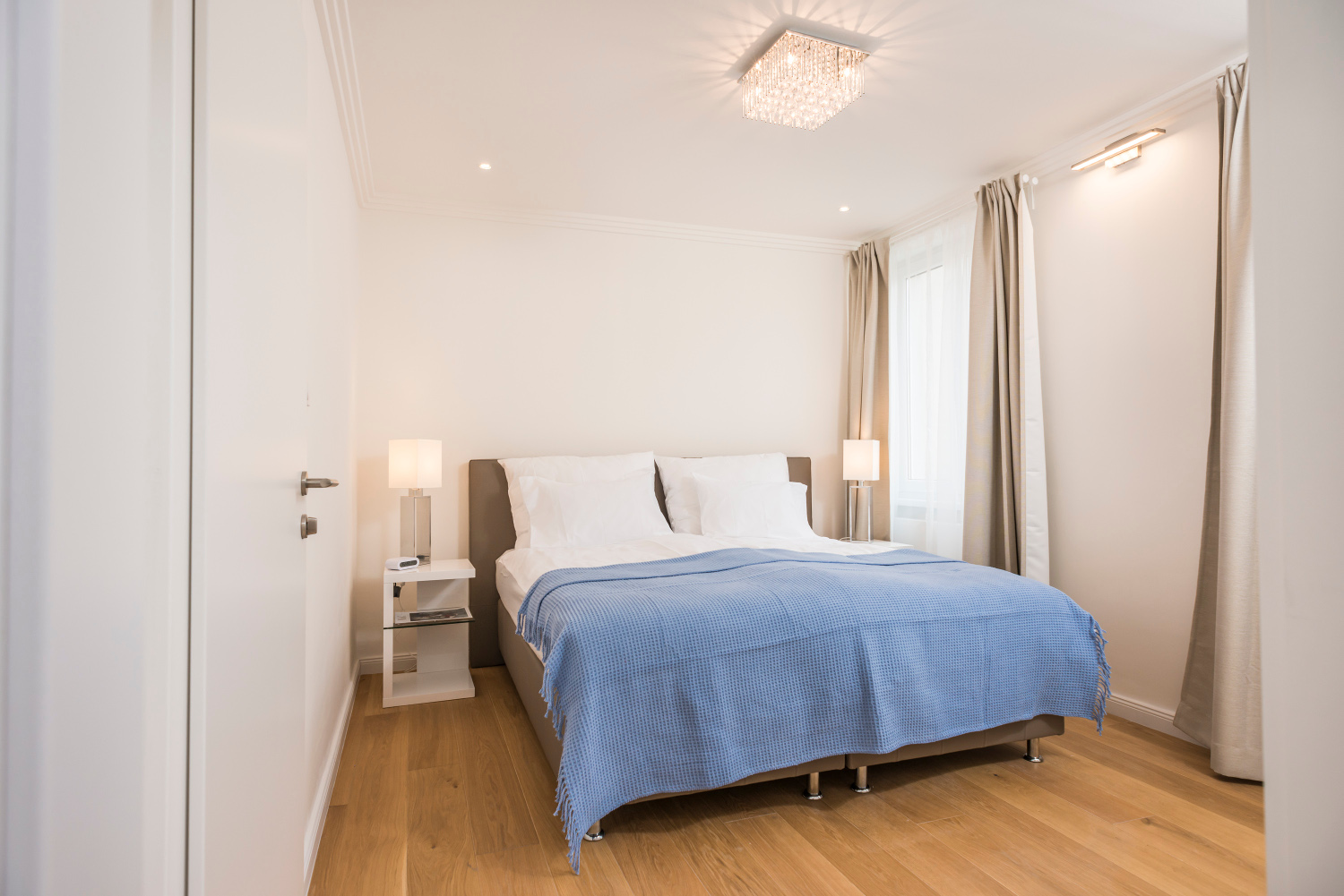 pretty bedroom in modern family home vienna