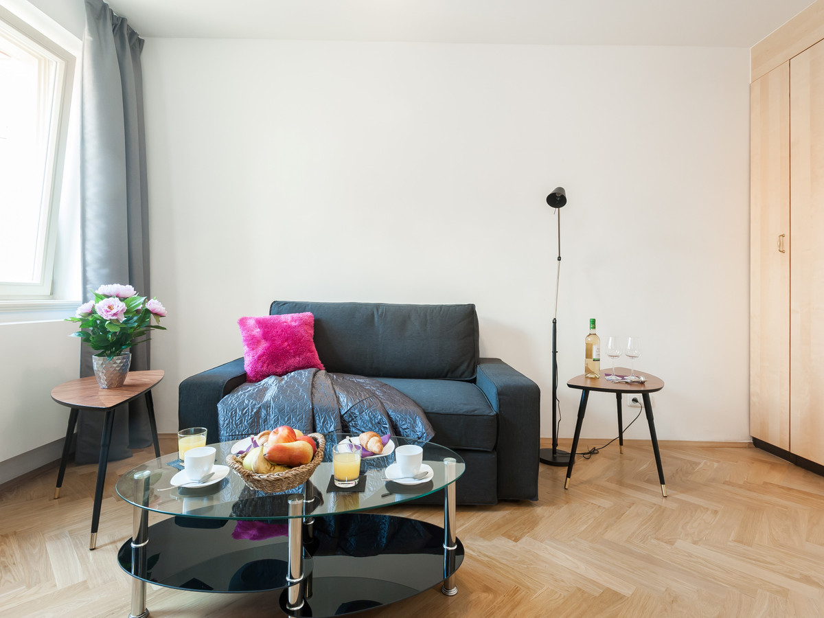 Studio apartment Prague - living area