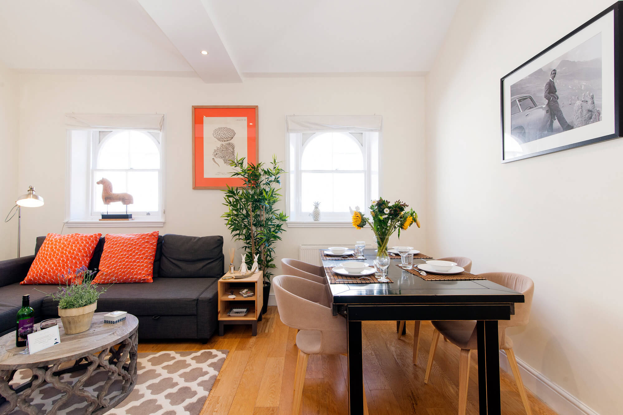 The Craven Terrace Cocoon-dining area-featured image - one bedroom apartment london