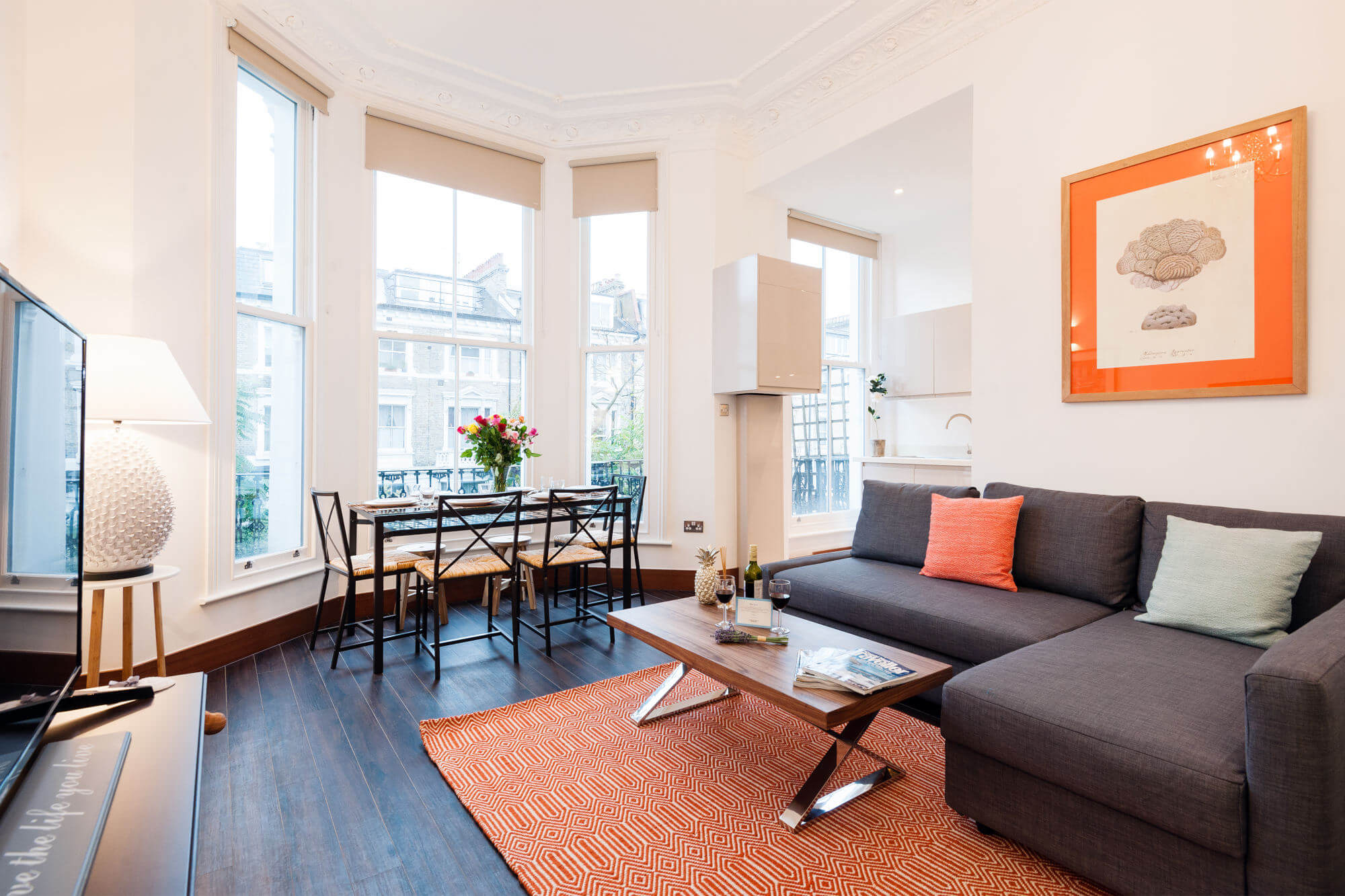 The Holland Road Residence-living area-featured image - spacious apartment london