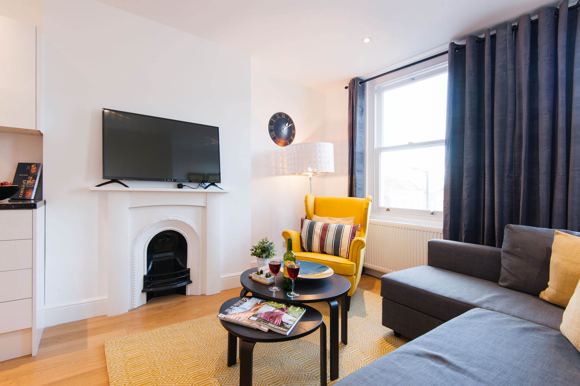 The North End Road Residence III-fireplace-featured image - two bedroom accomodation london