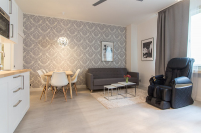 Modern Wenceslas Square Apartment with Massage Chair